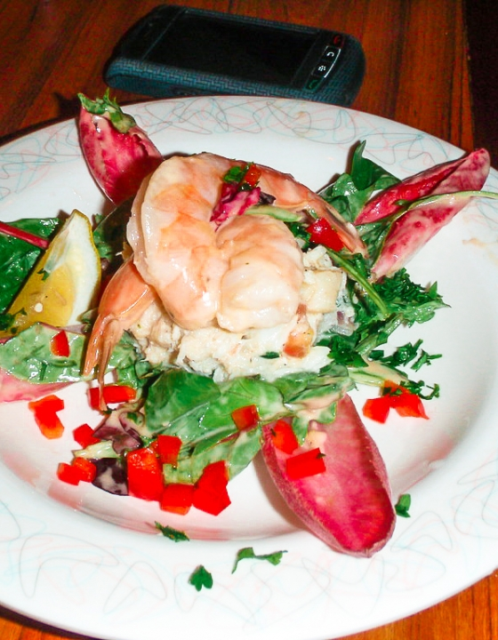 Aunt Annie's Seafood Salad {50's Prime Time Cafe}