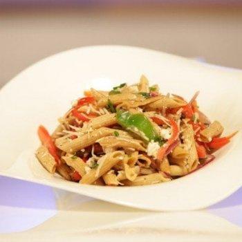 Pasta Salad with Feta and Balsamic Vinaigrette {Crystal Palace}
