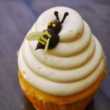 "Lemon ""Bumblebee"" Cupcake- Hungry Bear Restaurant, Critter Country"