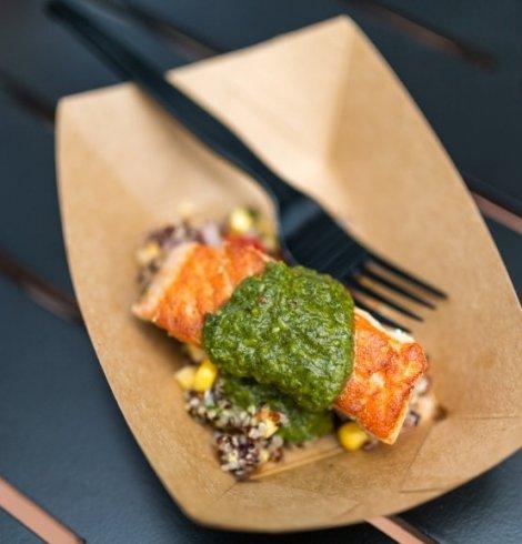 Grilled Verlasso Salmon with Quinoa Salad and Arugula Chimichurri- Patagonia 14