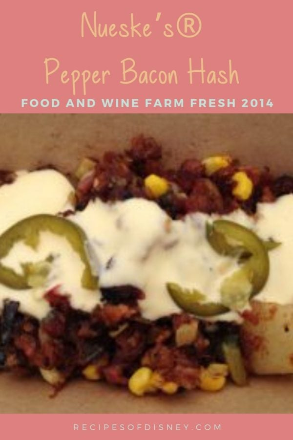 Nueske's® Pepper Bacon Hash {Food and Wine Festival 2014} 1