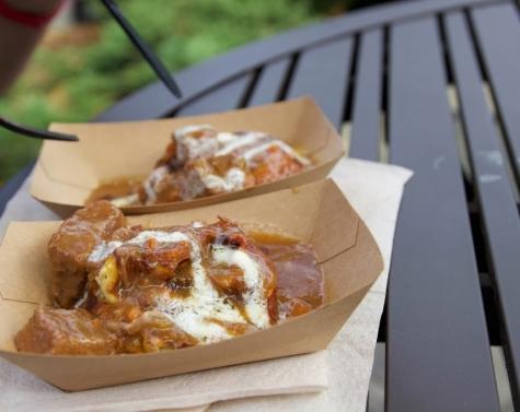Potato Leek Waffle With Braised Beef Recipe- Belgium 2013
