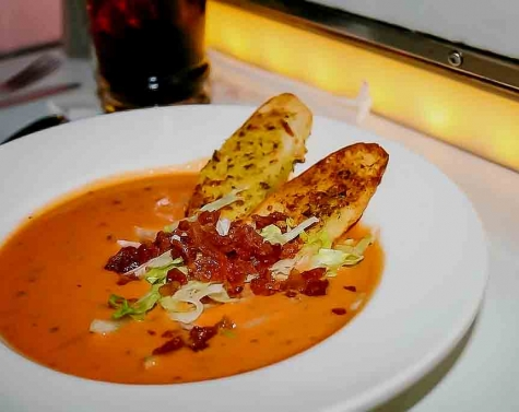 Bacon Lettuce Tomato BLT Soup {Sci-Fi Dine-In Theater}