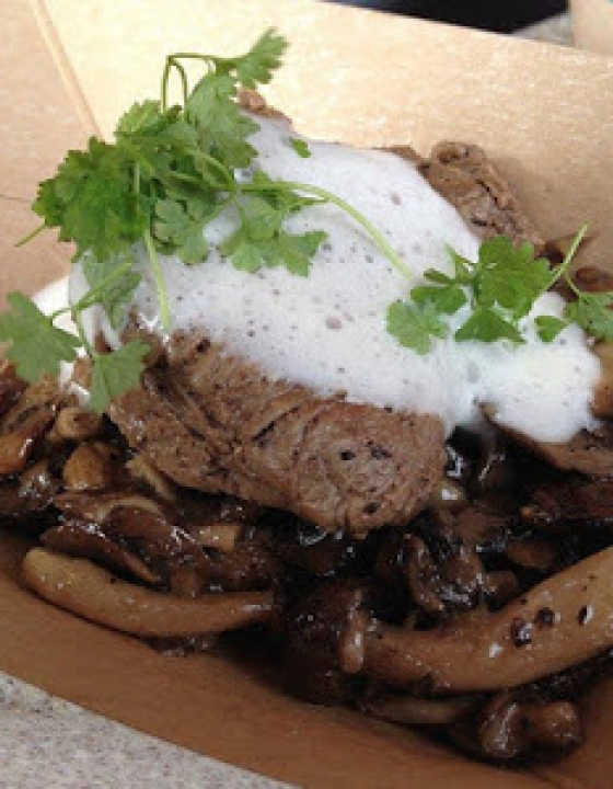 Wild Mushroom Beef Filet Mignon {2014 Food and Wine Festival}