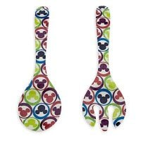 Disney Utensil - Serving Spoon or Salad Set - Color Fusion Mickey Mouse